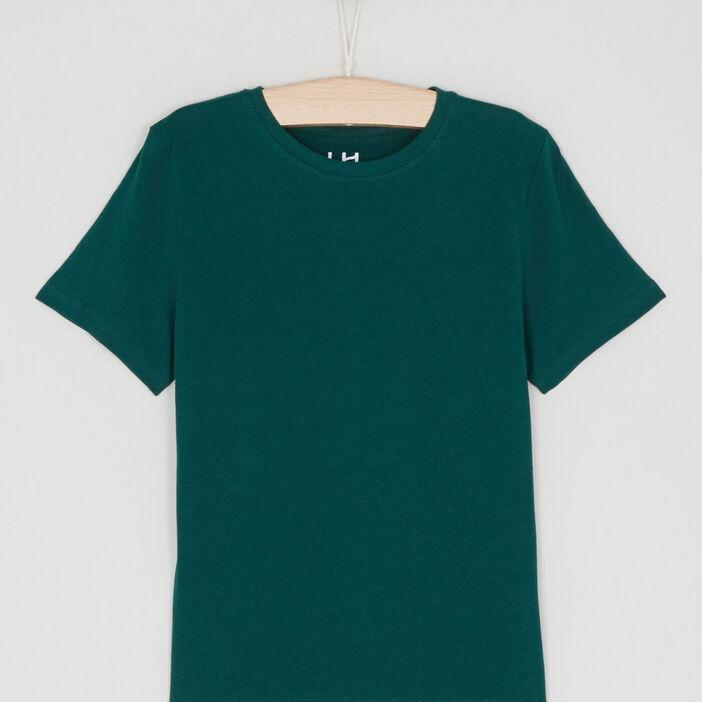 T-shirt manches courtes garçon vert