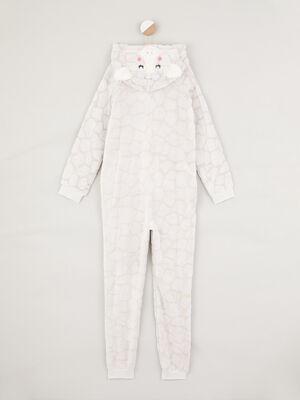 Combinaison de pyjama Girafe beige fille