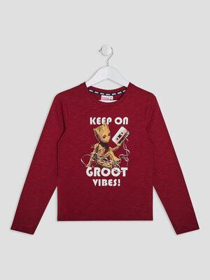 T shirt manches longues Groot bordeaux garcon