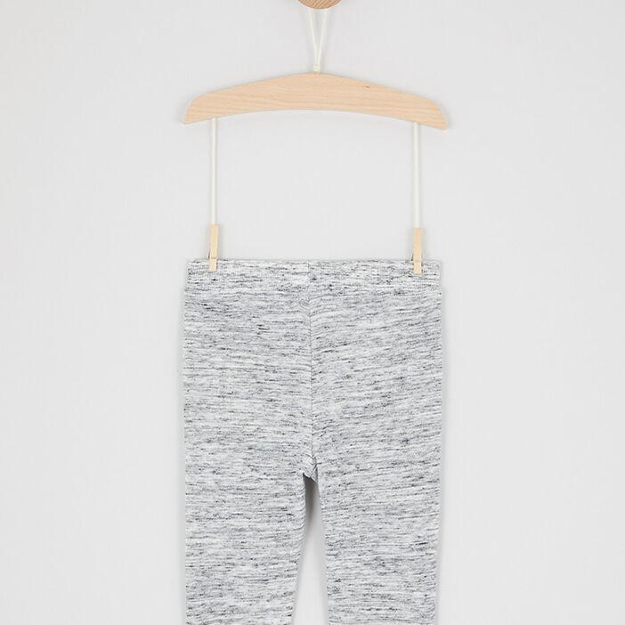 Jogging chiné avec poches garçon gris