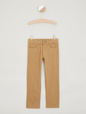 Pantalon regular uni camel garcon