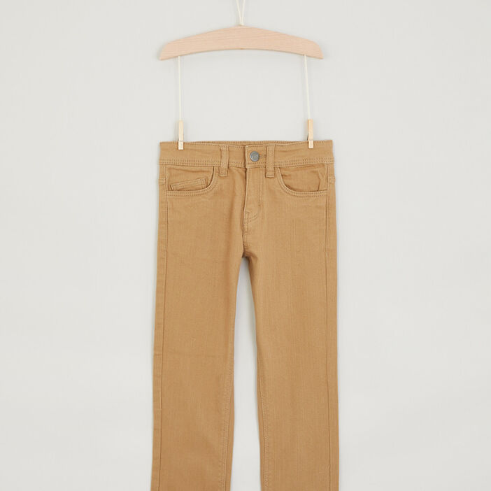 Pantalon regular uni garçon camel