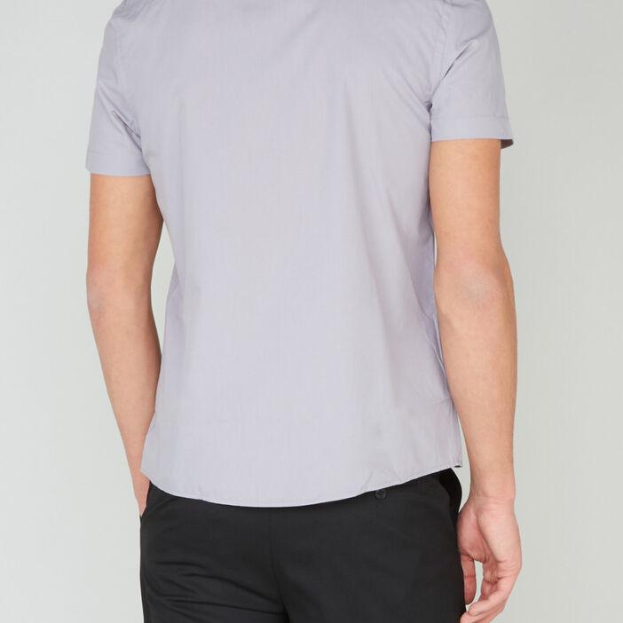 Chemise manches courtes homme gris