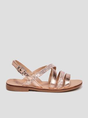 Sandales plates sable fille
