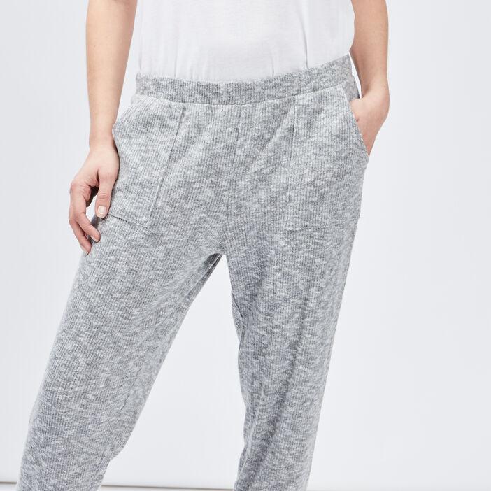 Pantalon de pyjama femme gris