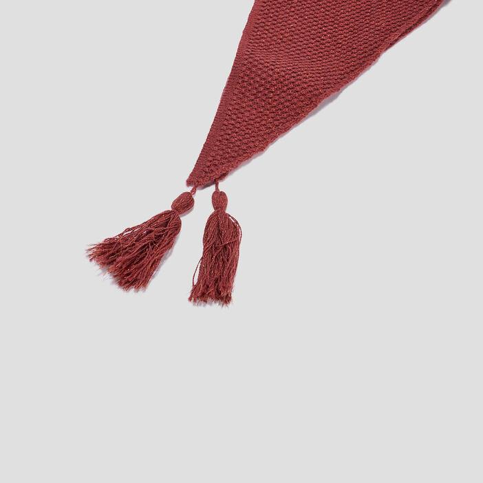 Écharpe à pampilles femme rose