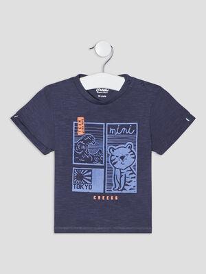 T shirt manches courtes bleu marine bebeg