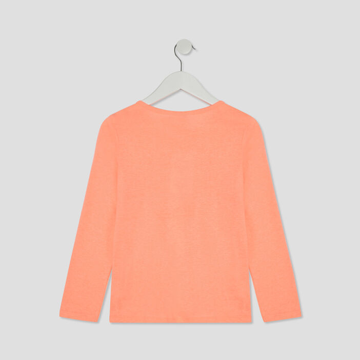 Ensemble pyjama fille orange corail
