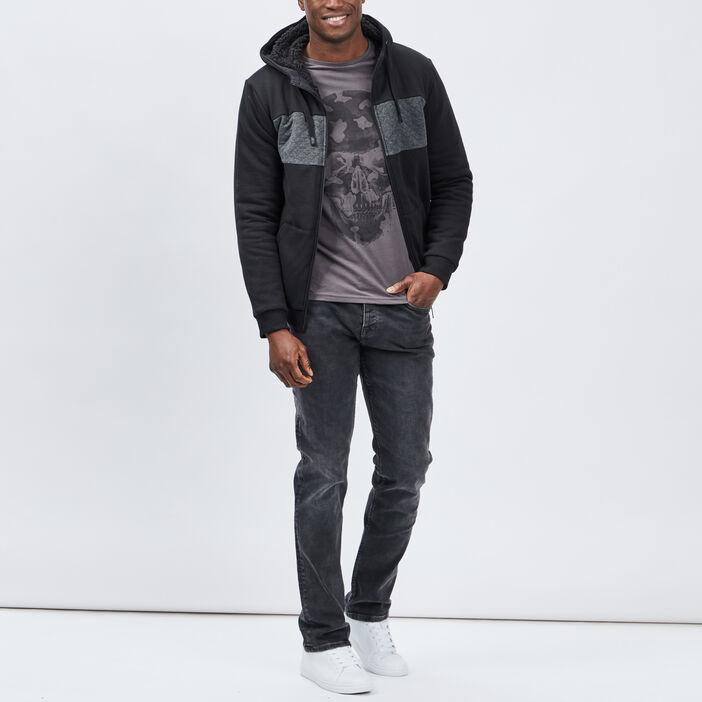 Jeans straight homme gris foncé