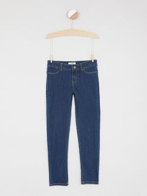 Jean coupe slim coton majoritaire denim brut fille