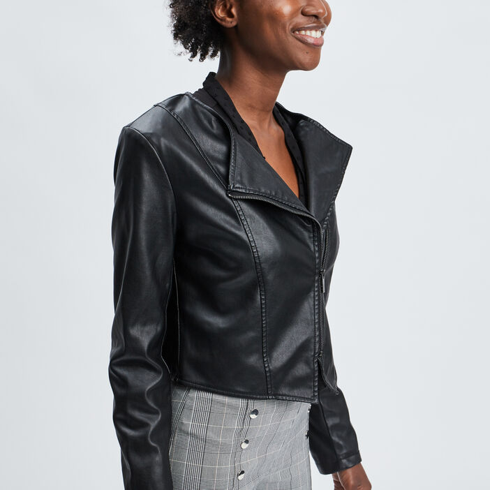 Veste style biker Mosquitos femme noir