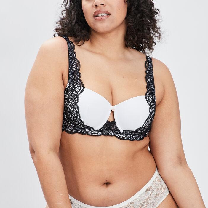 Soutien-gorge corbeille femme grande taille blanc