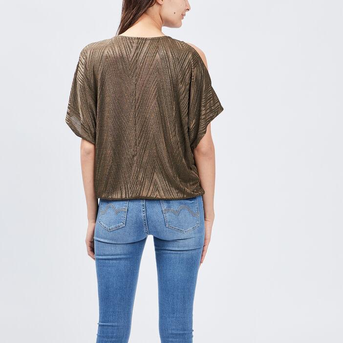 T-shirt manches courtes femme vert kaki