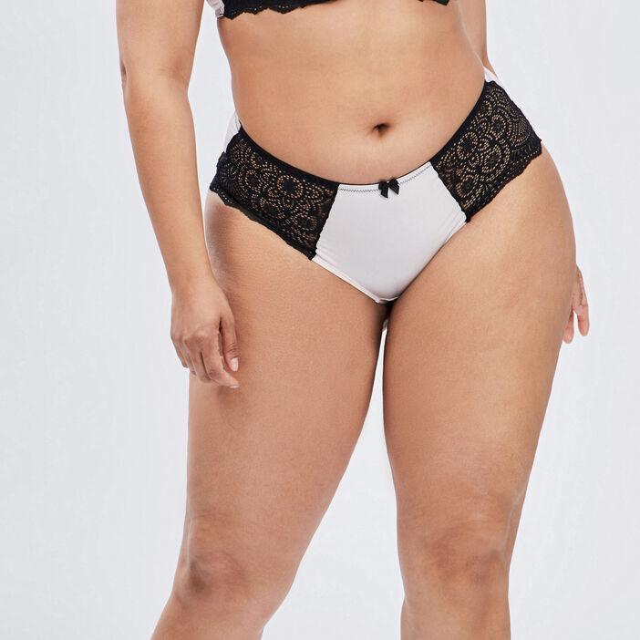 Culotte shorty à dentelle femme grande taille rose clair