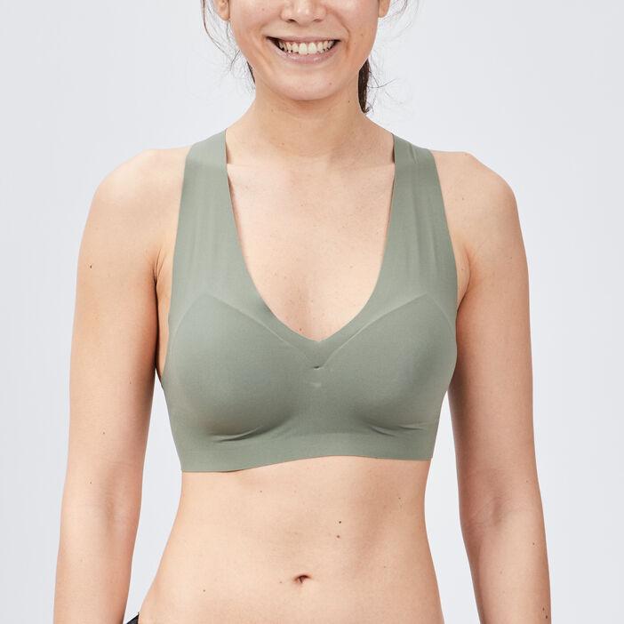 Soutien-gorge brassière femme vert kaki