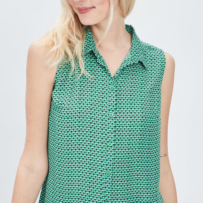 Chemise sans manches femme vert