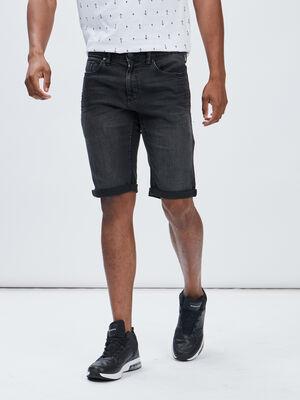 Bermuda regular en jean noir homme