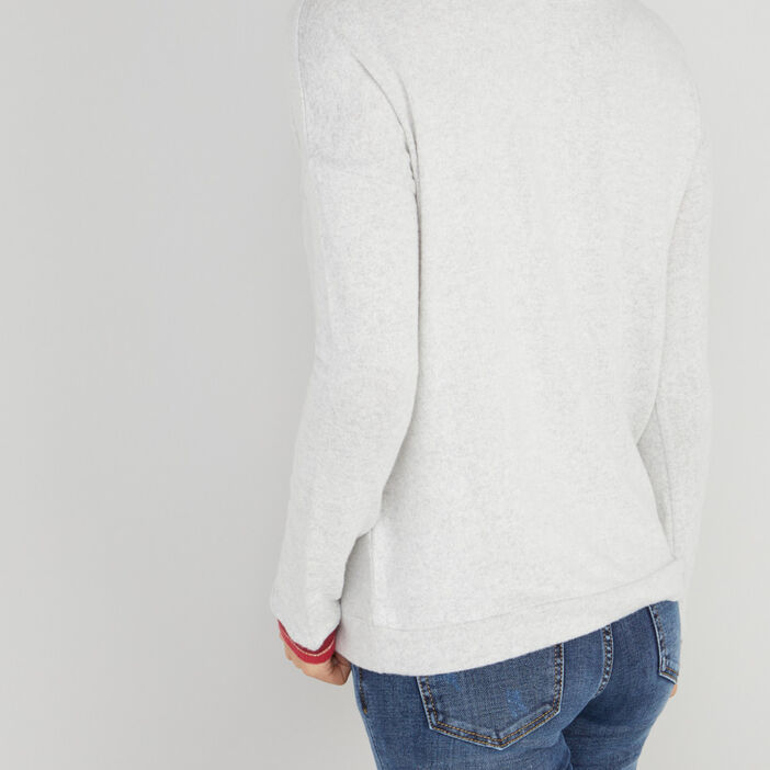 Haut de pyjama sweatshirt femme gris
