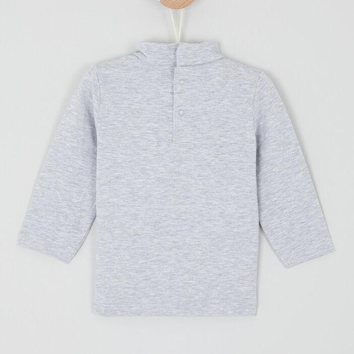 T-shirt col roulé coton majoritaire bébé garçon gris