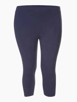 Legging court coton majoritaire bleu marine femme