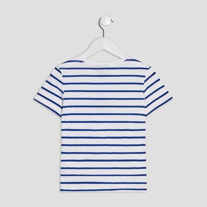 T-shirt manches courtes Mario garçon blanc