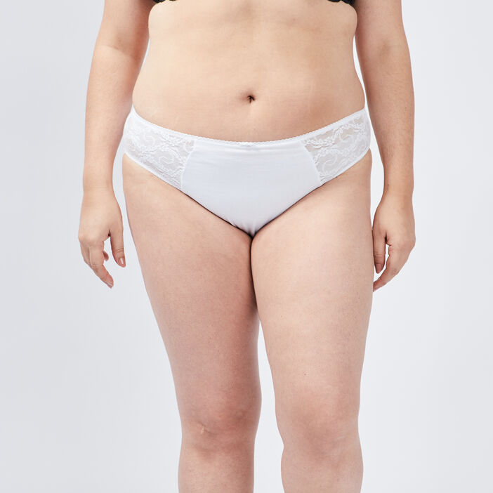 Culotte femme grande taille blanc