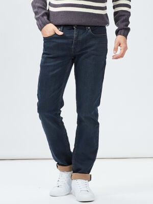 Jeans straight Creeks denim blue black homme