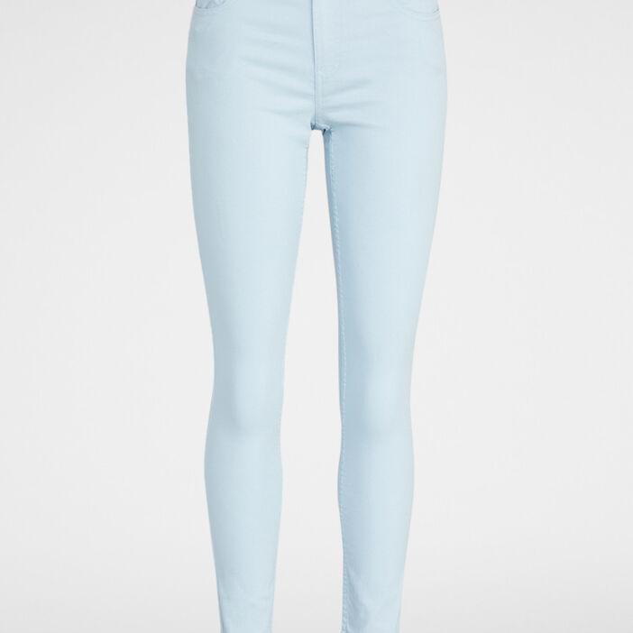 Pantalon slim uni femme bleu ciel
