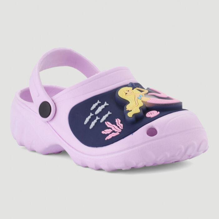 Sabots avec sirène 3D fille violet
