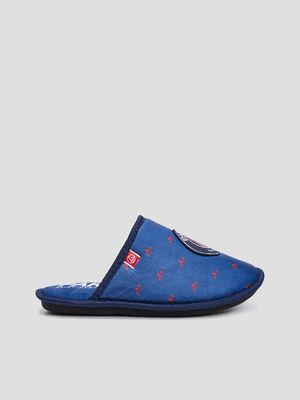 Chaussons mules PSG bleu