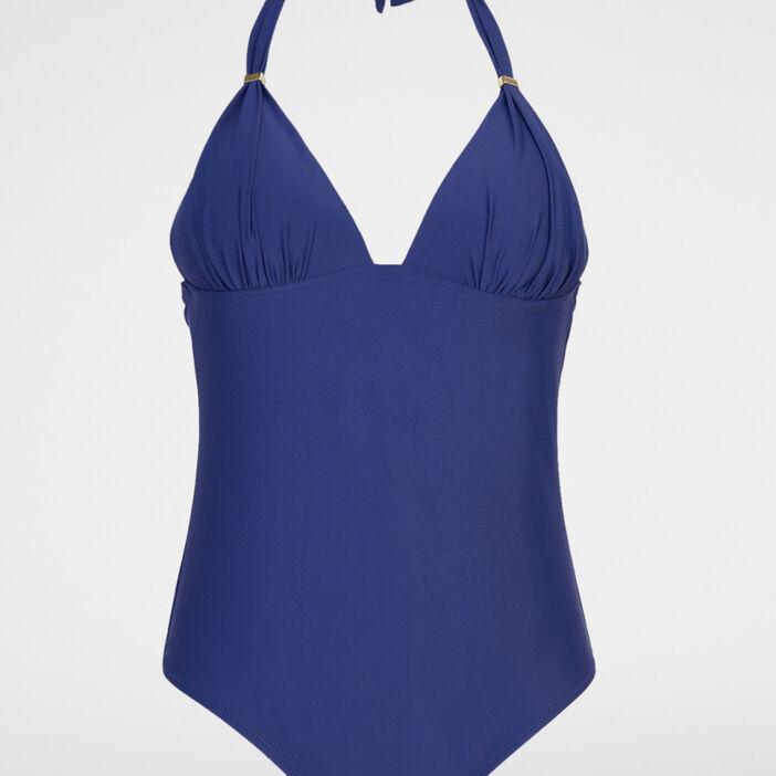 Maillot de bain une pièce femme bleu marine