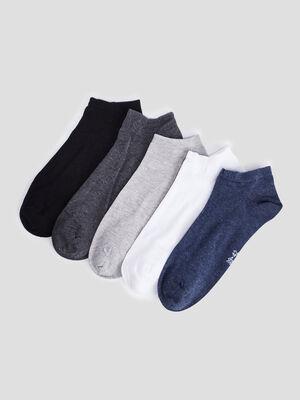 Lot 5 paires socquettes multicolore homme