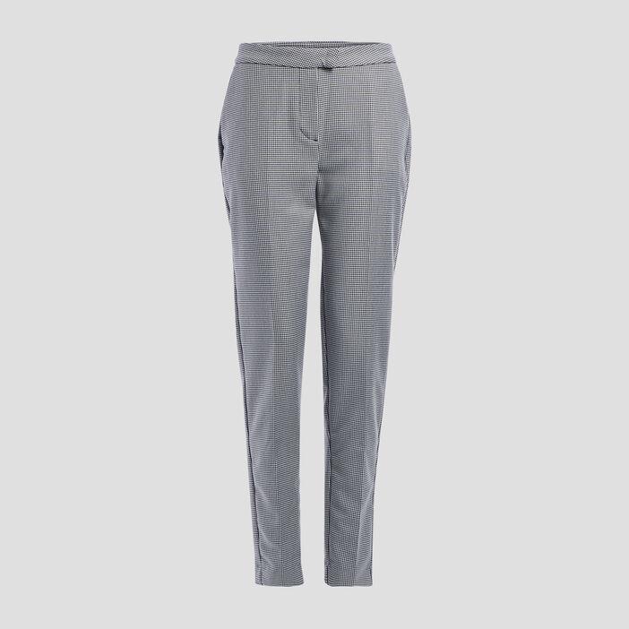 Pantalon droit à pinces femme blanc