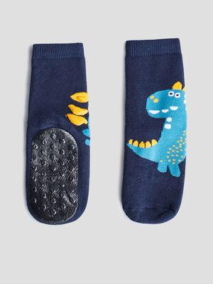 Chaussettes dinterieur bleu marine mixte