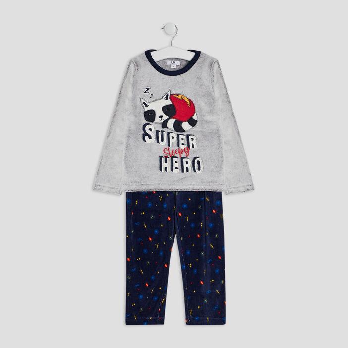 Ensemble pyjama 2 pièces garçon gris