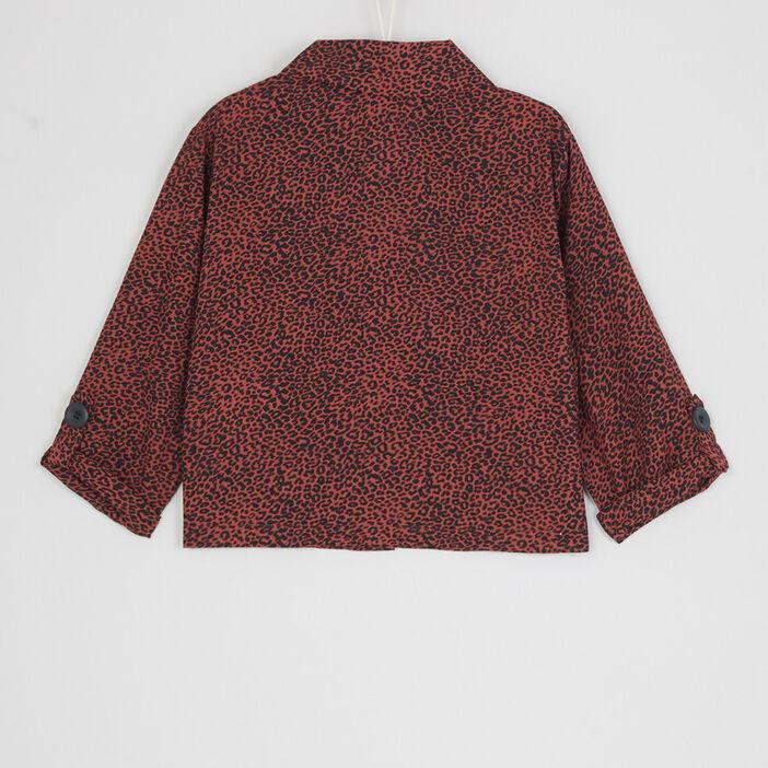 Chemise à motif avec poches fille multicolore