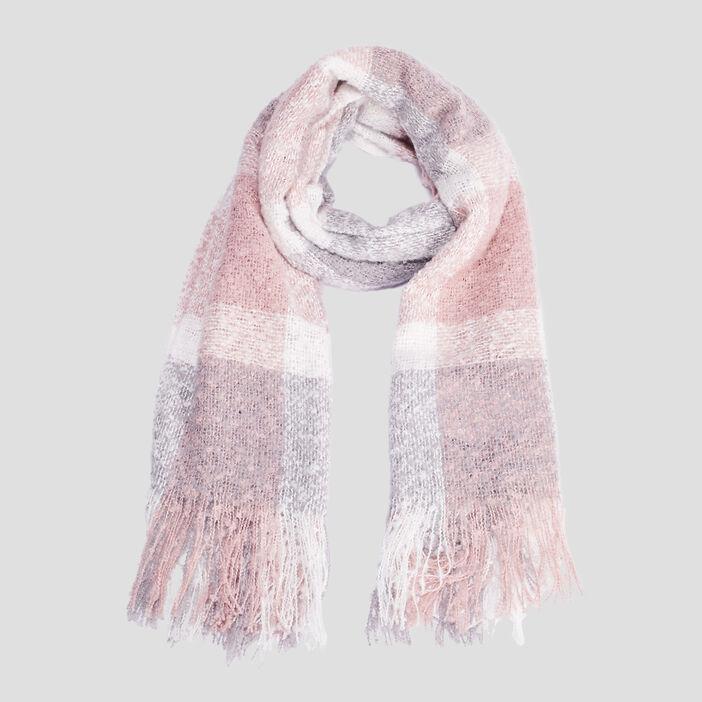 Écharpe à franges fille rose