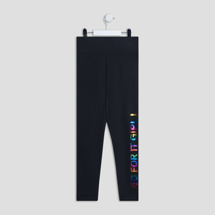 Pantalon legging fille noir