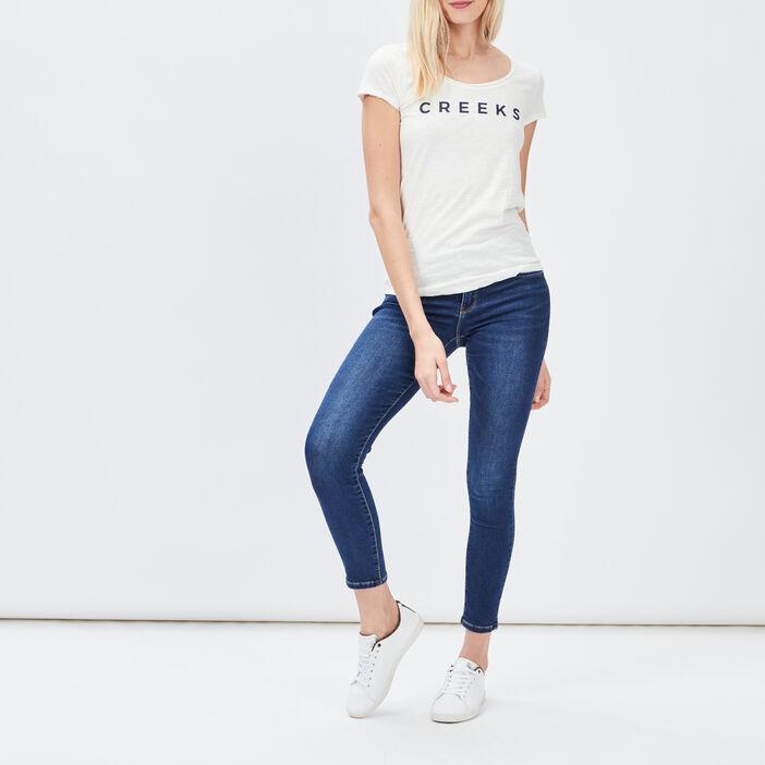 T-shirt manches courtes Creeks femme blanc