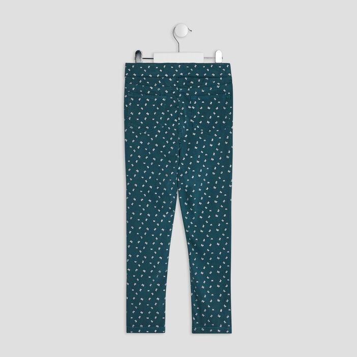 Pantalon tregging fille bleu canard