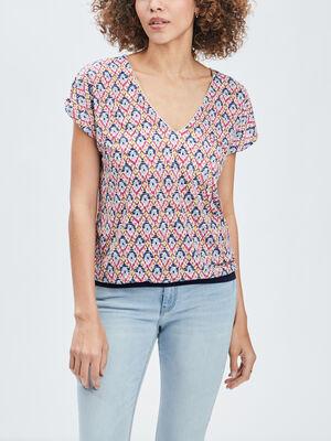 T shirt manches courtes violet femme