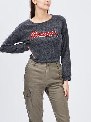 T shirt Liberto gris fonce femme
