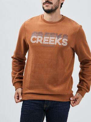 Sweat Creeks marron homme
