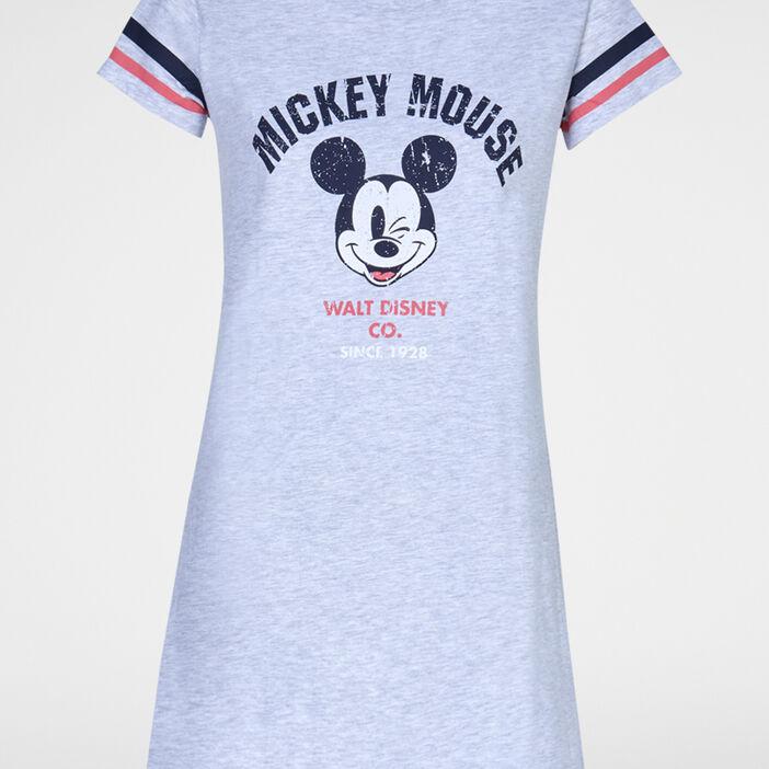 Chemise de nuit Mickey femme gris