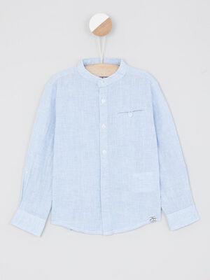 Chemise manches courtes bleu garcon