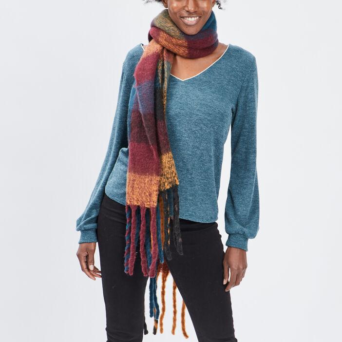 Écharpe à franges femme multicolore