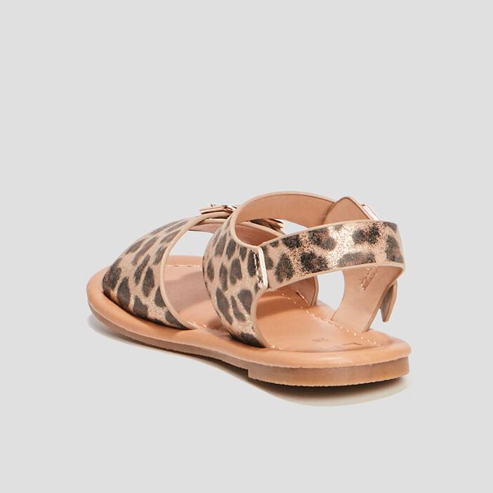 Sandales avec boucles fille beige