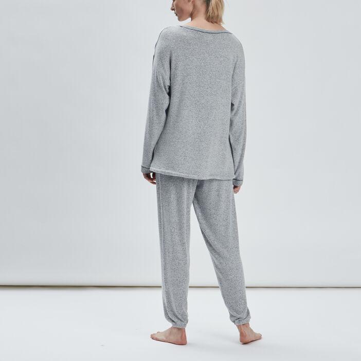 Ensemble pyjama 2 pièces femme gris