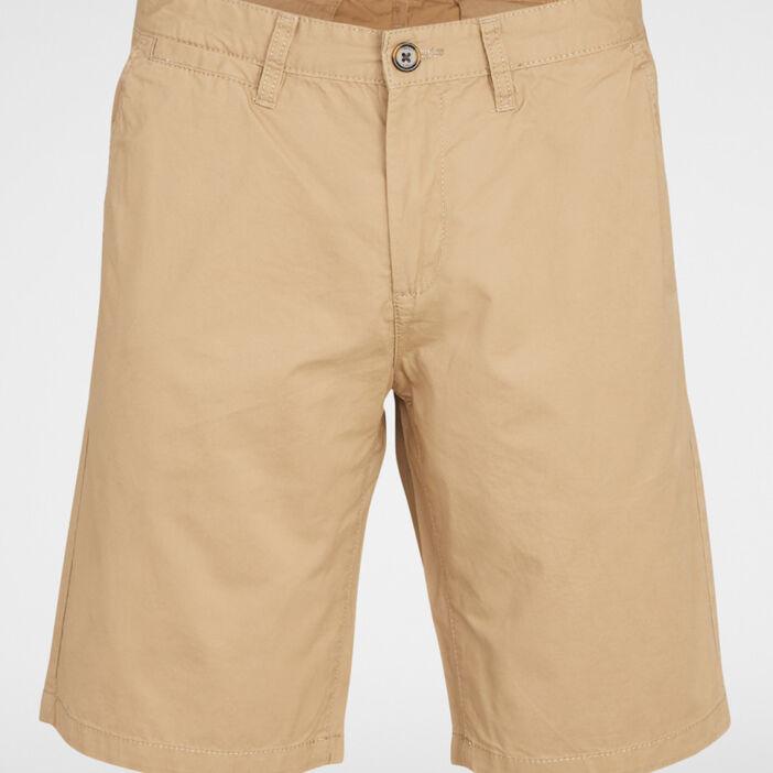 Bermuda coton uni coupe droite homme beige