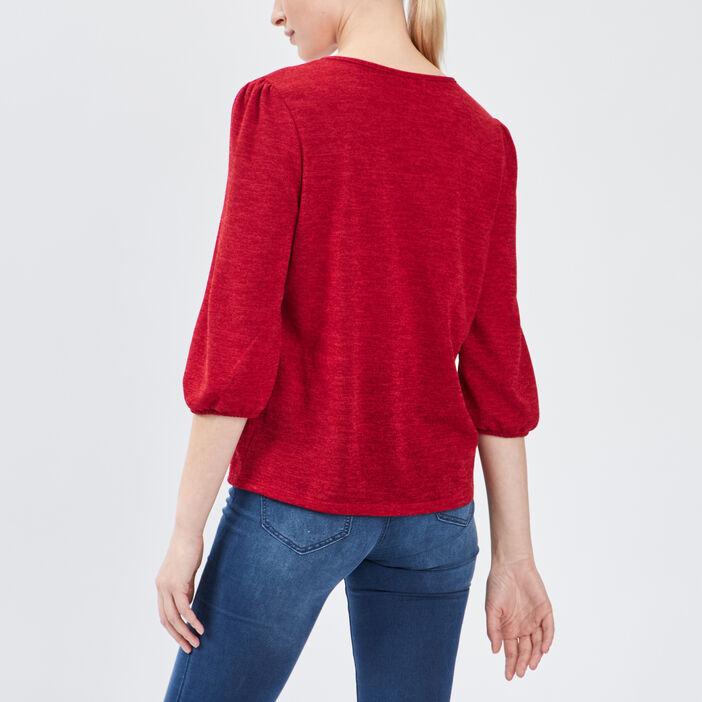 T-shirt manches 3/4 femme rouge